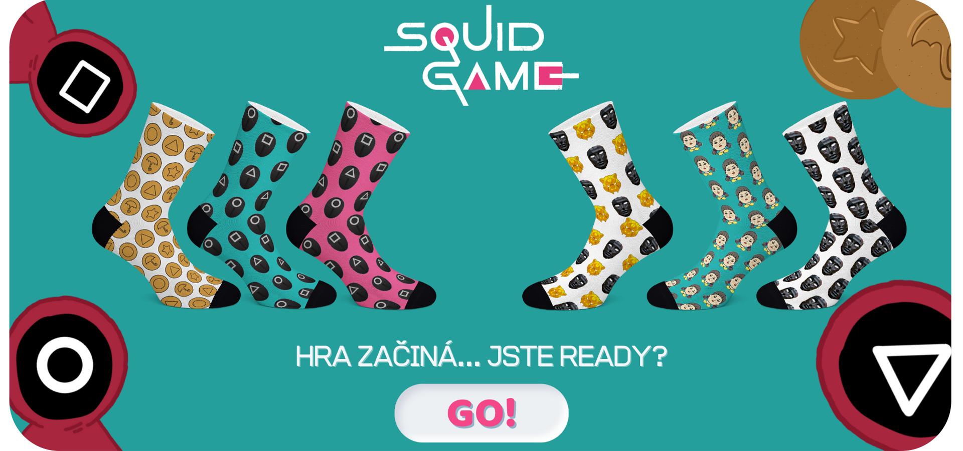 PC squid game ponožky 2021