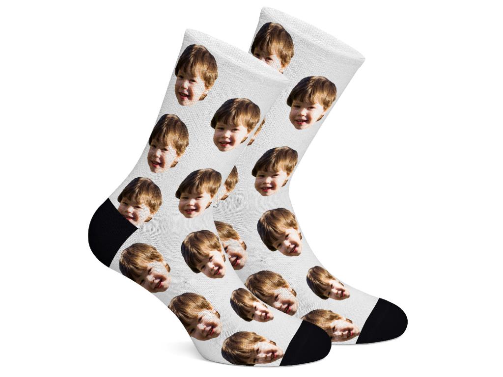 Levně FaceSocks Ponožky s vlastním potiskem obličeje Vzor: Bílá, Velikost: M (39-42)