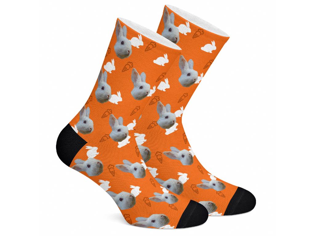 Levně RabbitSocks Ponožky s potiskem králíka Vzor: Oranžová, Velikost: M (39-42)