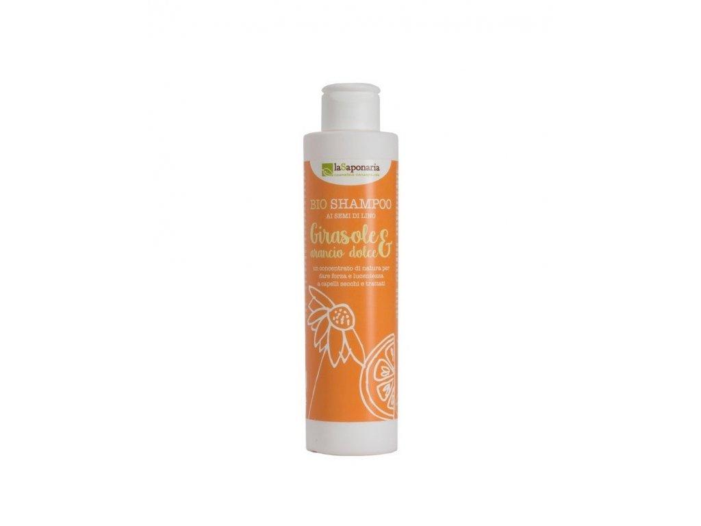 Šampon se slunečnicí a sladkým pomerančem
