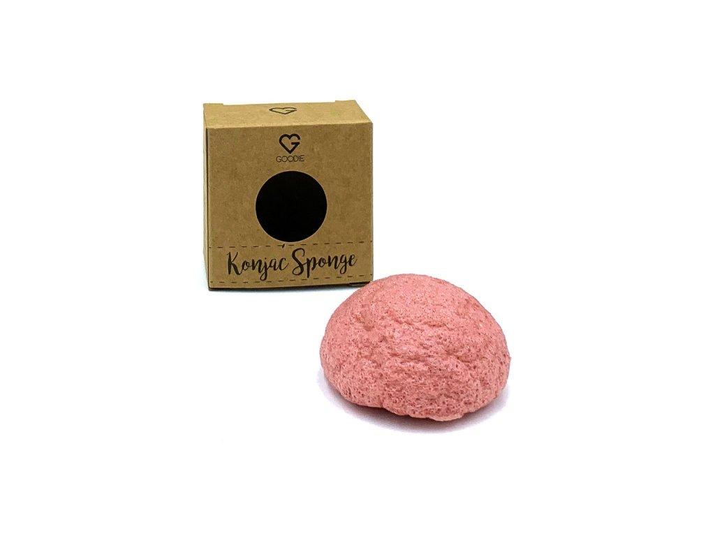 Konjac houbička Růžový jíl