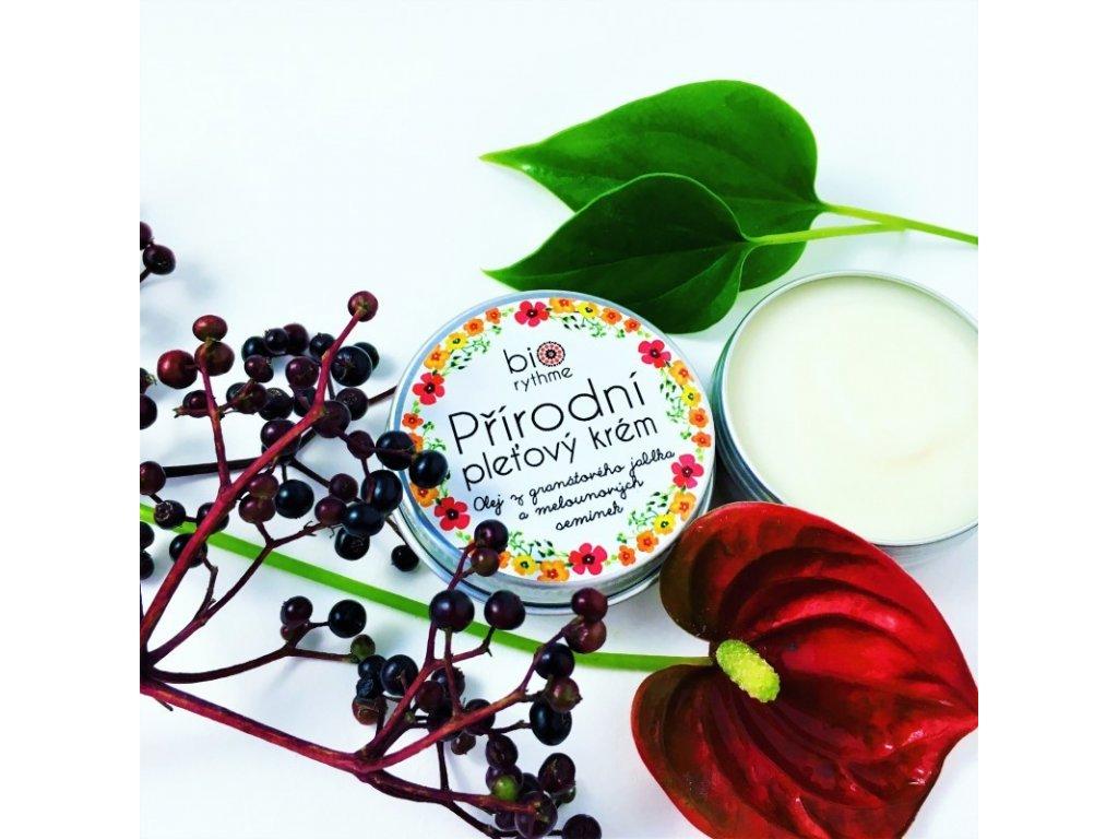Přírodní krém pro citlivou pleť Olej z granátového jablka a melounových semínek