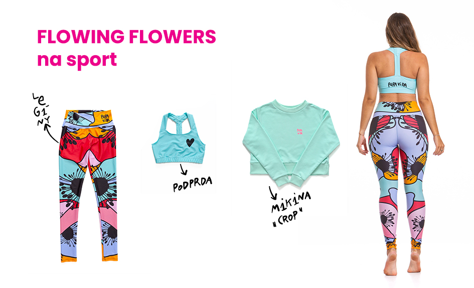 Outfit FLOWING FLOWERS na sport
