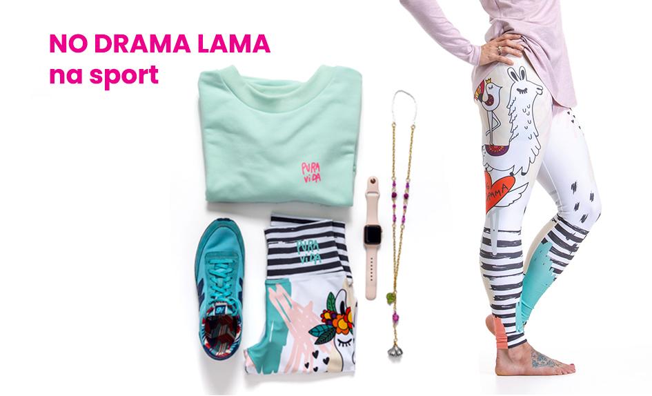 Outfit NO DRAMA, LAMA na sport
