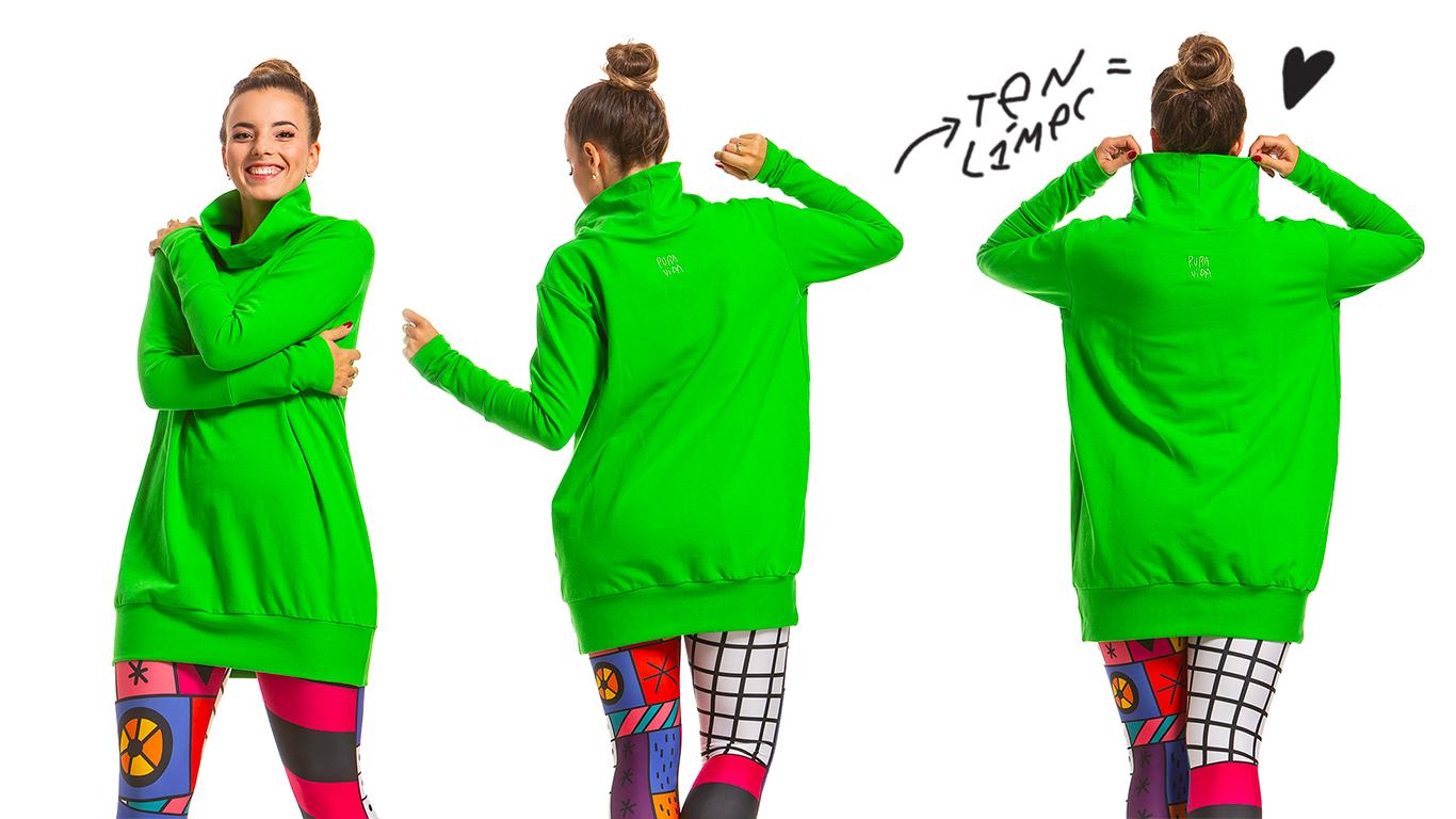 Outfit s mikinou LÍMEC