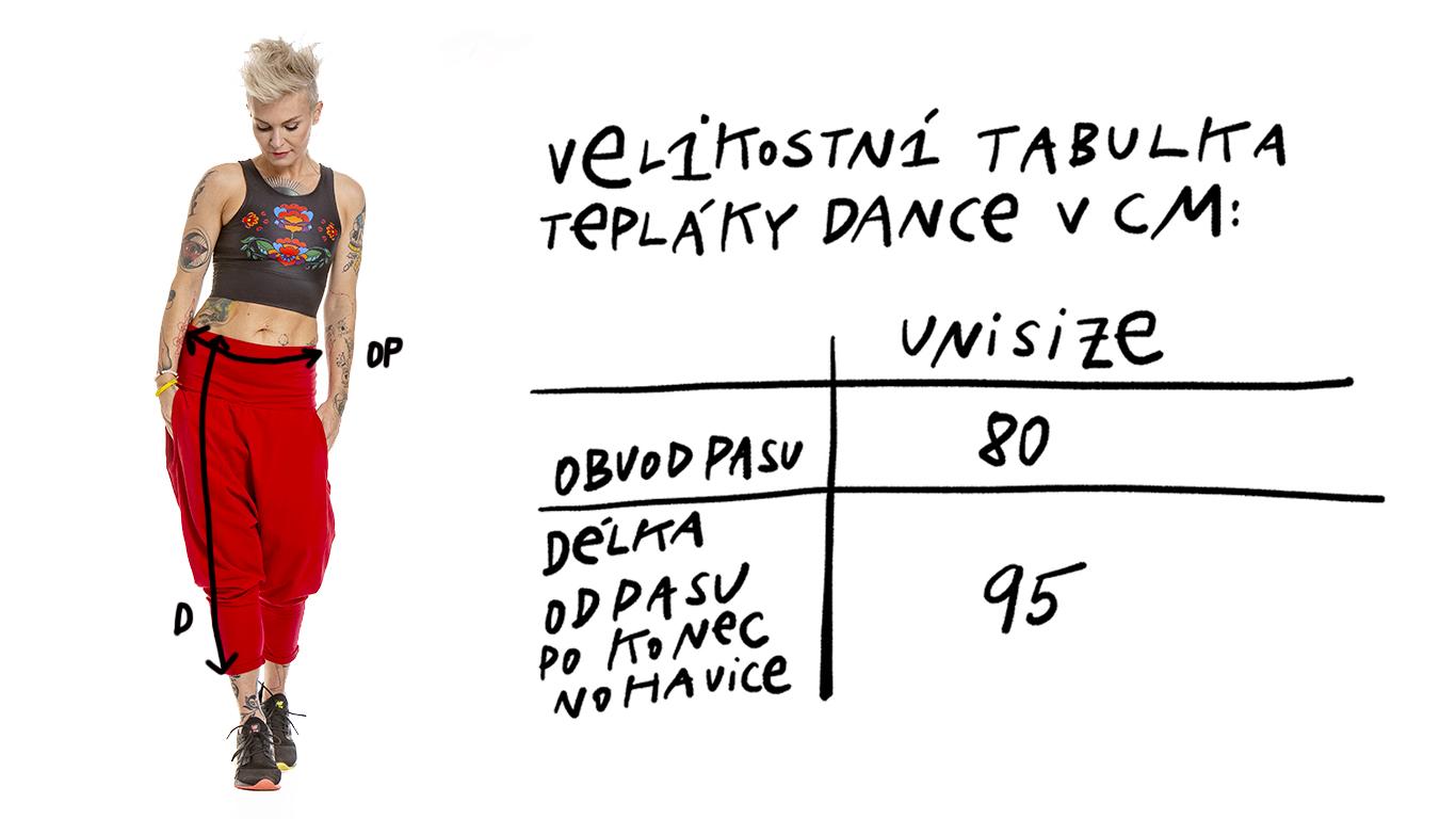puravida_velikostni_tabulka_teplaky_dance