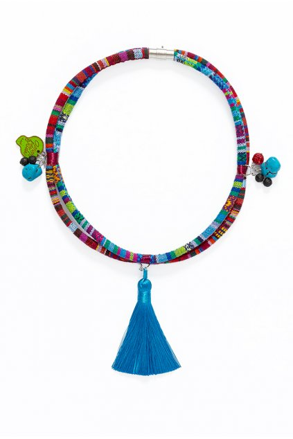 Azték modrý střapec