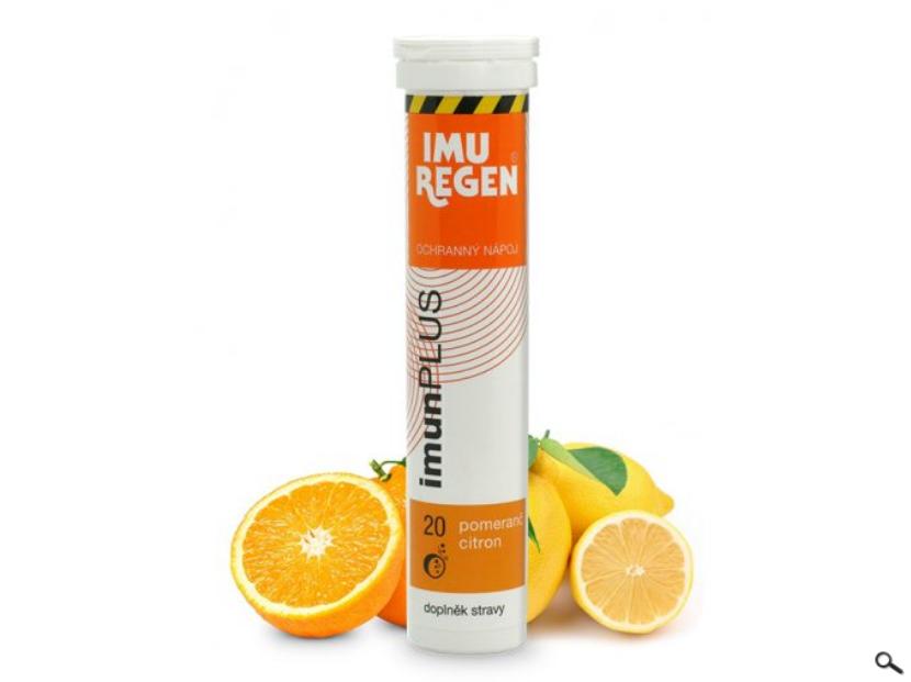 Výborný osvěžující nápoj Imunplus s jinou příchutí - POMERANČ