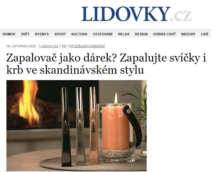 LIDOVKY.cz - Zapalovač jako dárek? Zapalujte svíčky i krb ve skandinávském stylu
