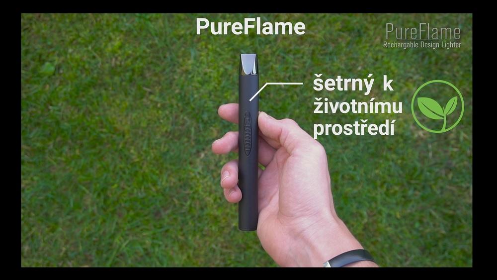 Porovnanie zapaľovača PureFlame s plynovým zapaľovačom