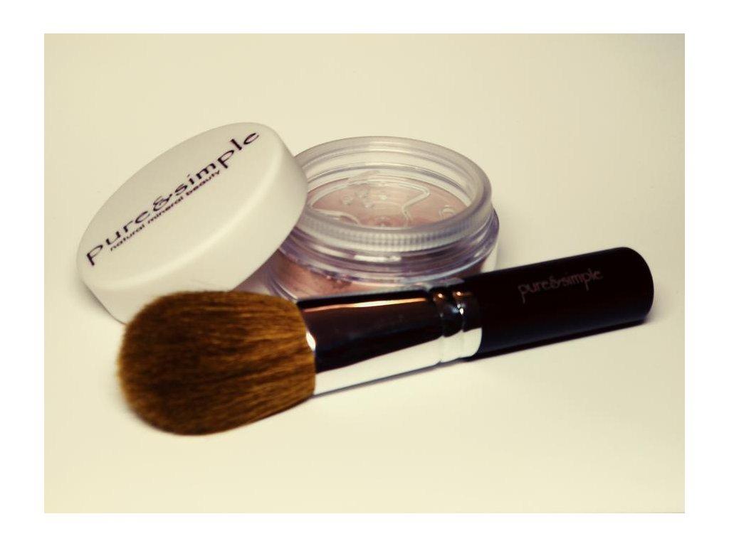 Minerální pudr/make-up a Štětec Handy Kabuki