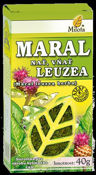 Maral nať (leuzea) 40g x Phaponticum carthamoides (maral leuzea) herba cons. Sypaná bylina MILOTA
