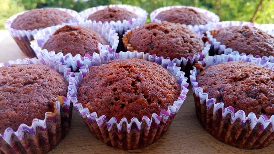 Cuketové muffiny s chia semínky