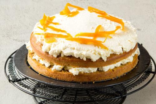 Dýňový dort s tvarohem