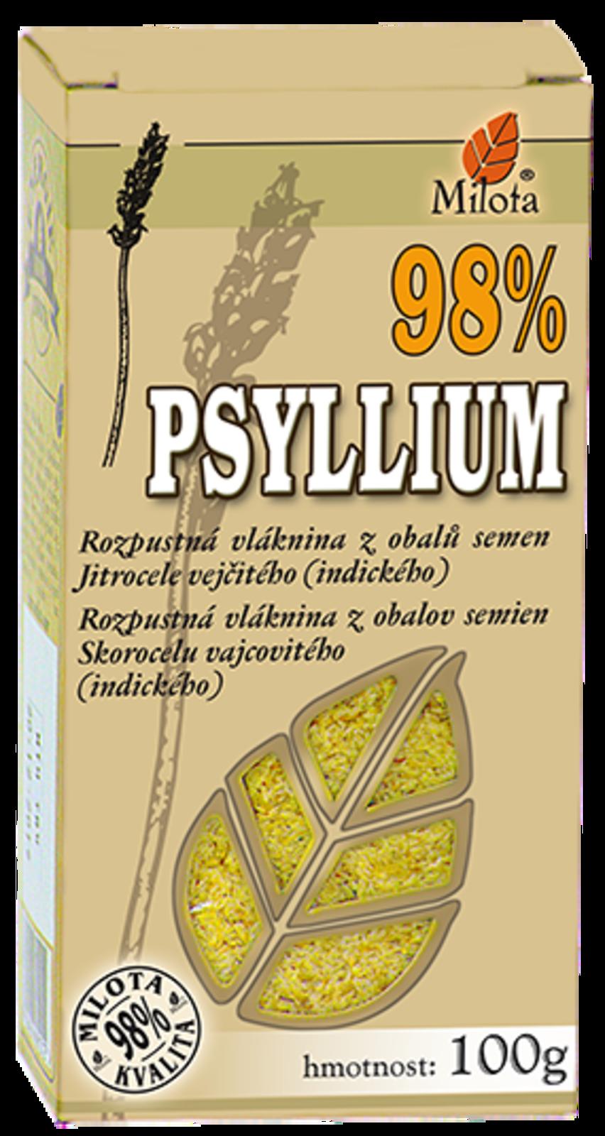 Psyllium 98% čistota přírodní vláknina 100g Psyllium ovata Husk