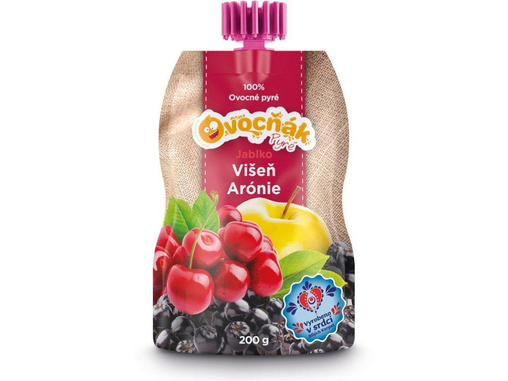Ovocné pyré jablko-višeň-arónie 200g Ovocňák