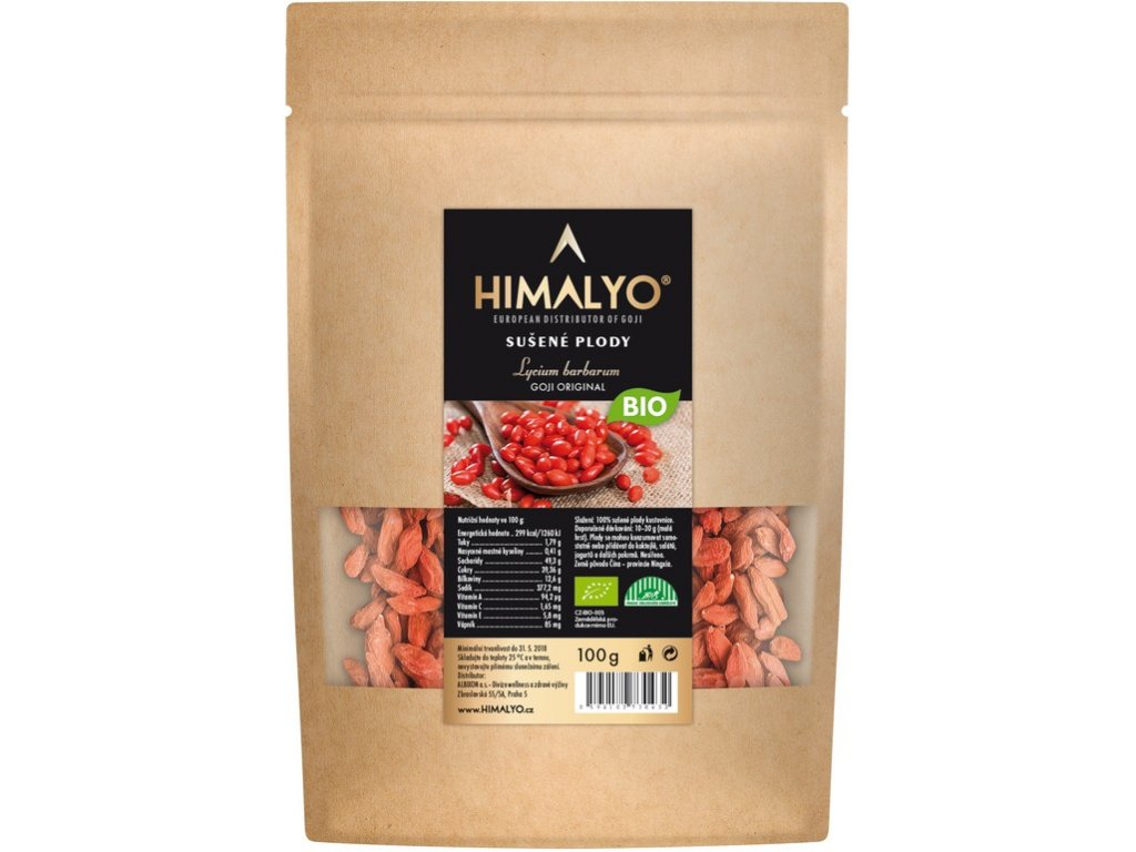Bio Sušené plody Goji 100g Himalyo