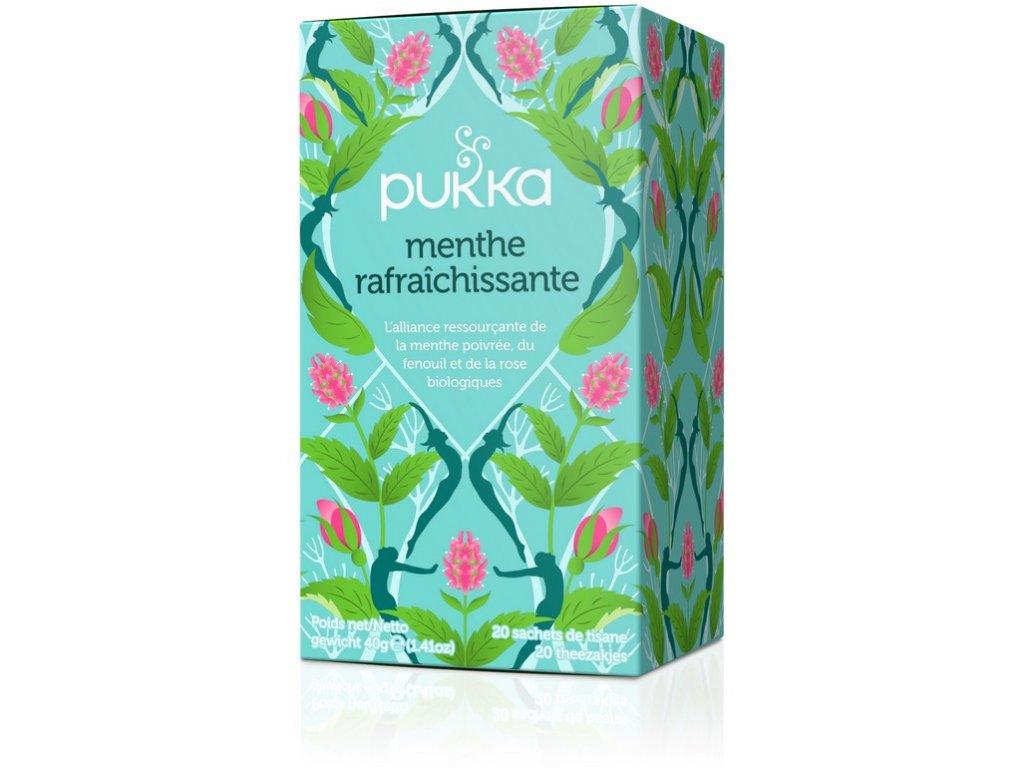 Bio čaj Mint Refresh osvěžující vyrovnání Pitty 20x2g Pukka