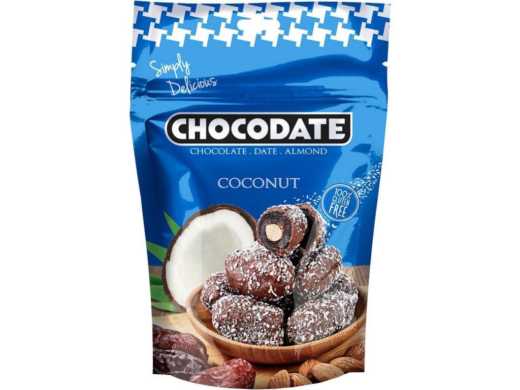 Datle s mandlí s kokosem 100g Chocodate