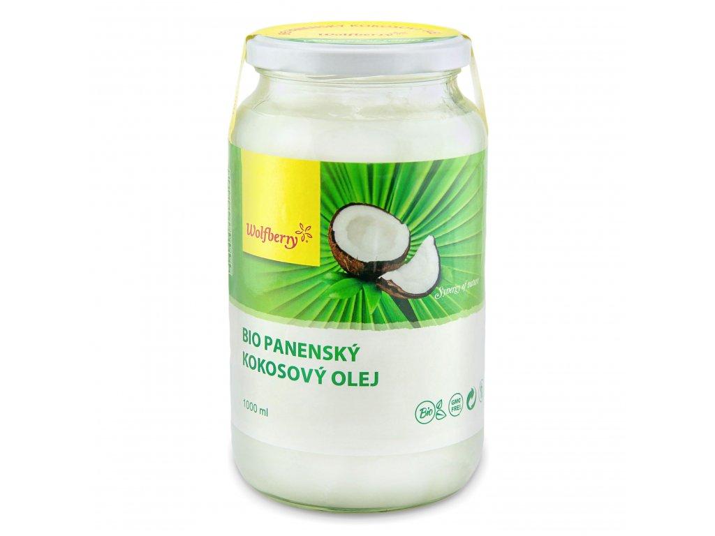 AKCE Panenský kokosový olej BIO 1000 ml Wolfberry