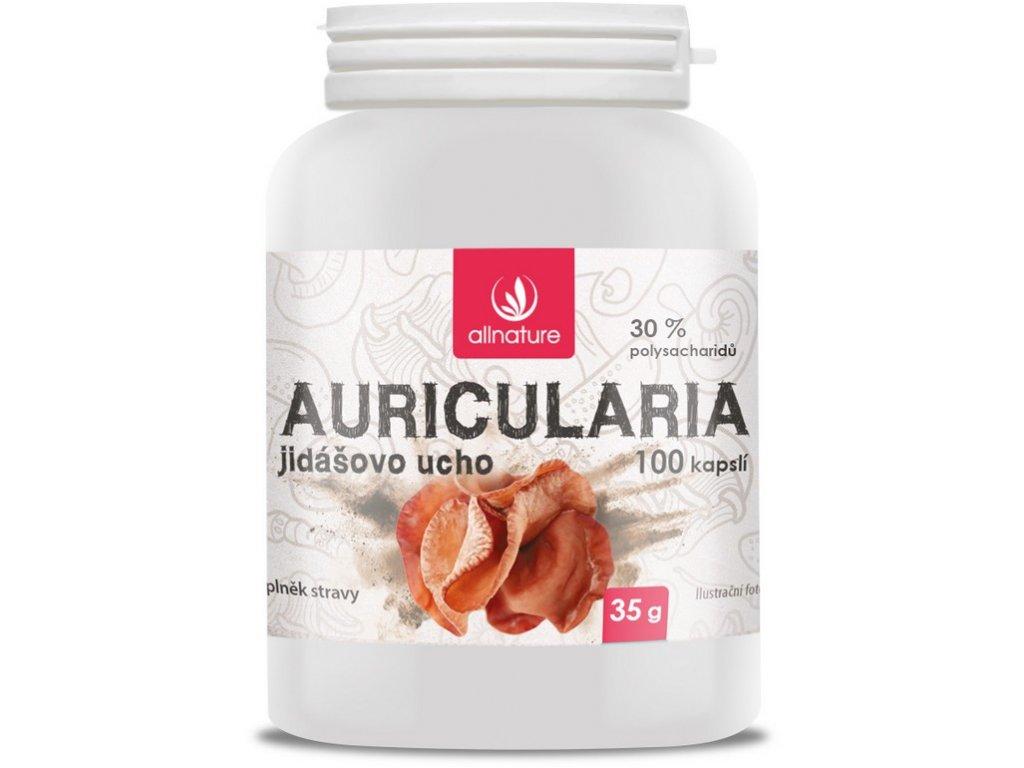 Auricularia Jidášovo ucho kapsle 100 cps Allnature