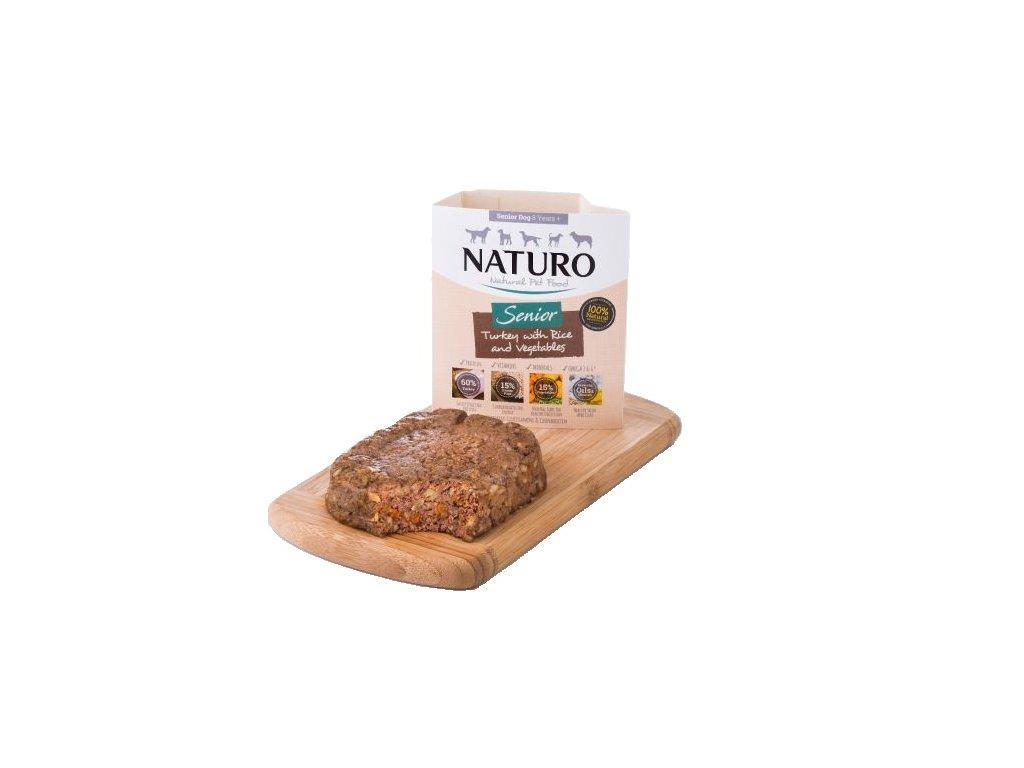 Naturo Senior Turkey&Rice with Veget 400g-(Balení 7 kusů)