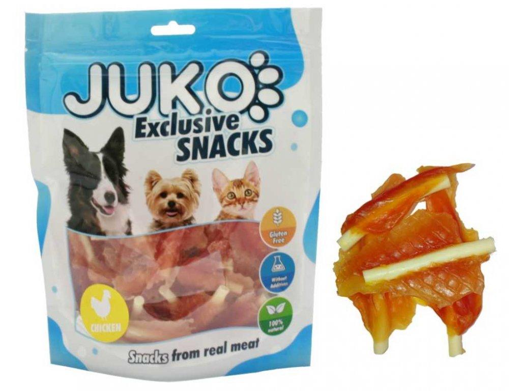 JUKO SNACKS Chicken jerky with calcium soft bone 250 g
