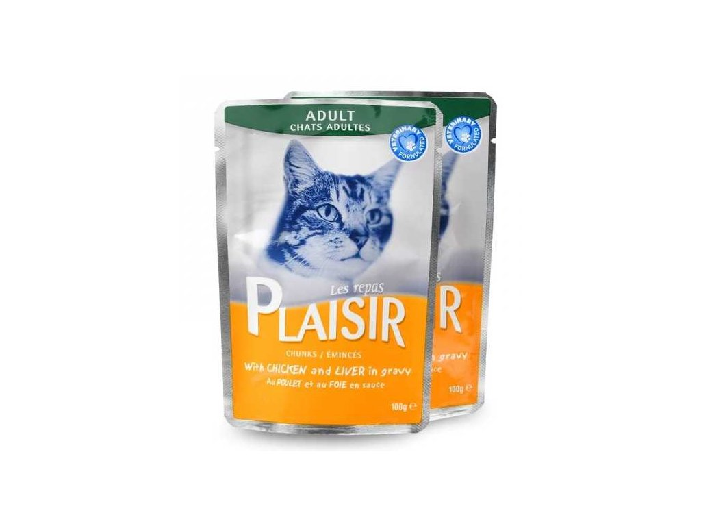 Plaisir Cat Sterilised kuřecí v želé, kapsička 100 g