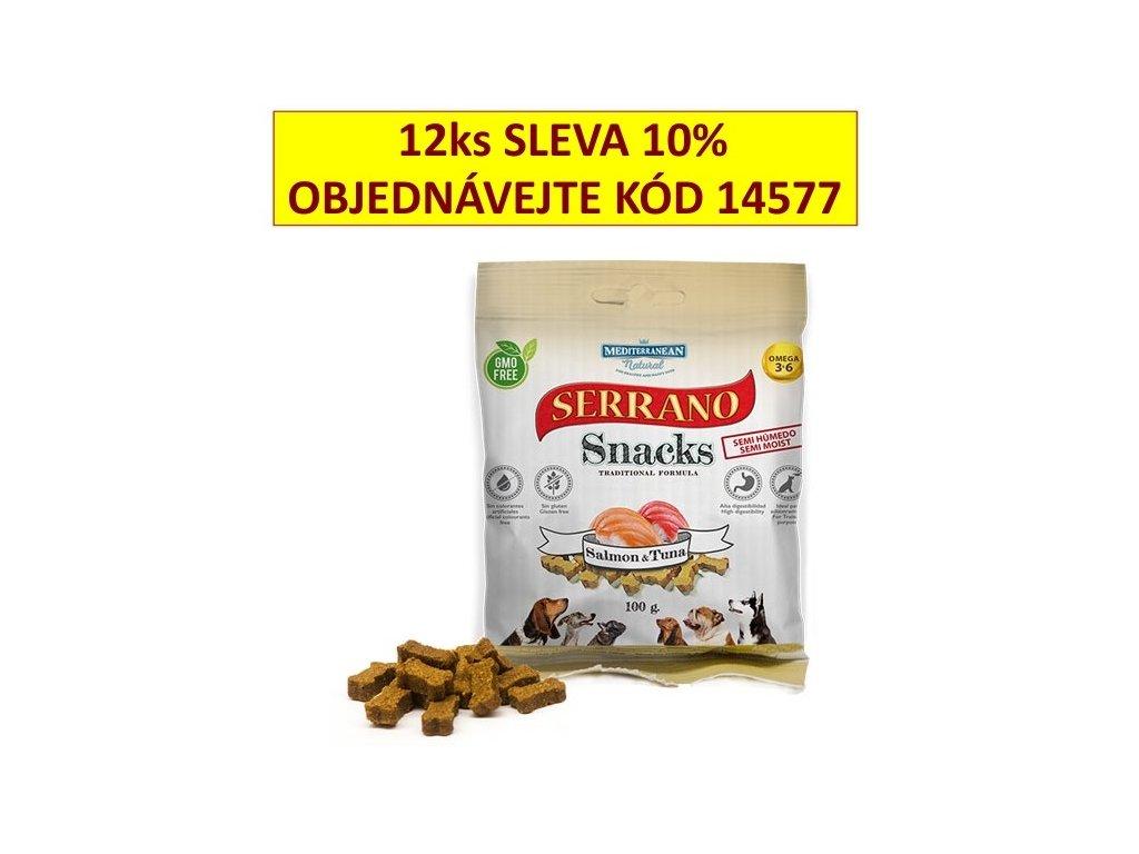 Serrano Snack for Dog-Salmon&Tuna 100g