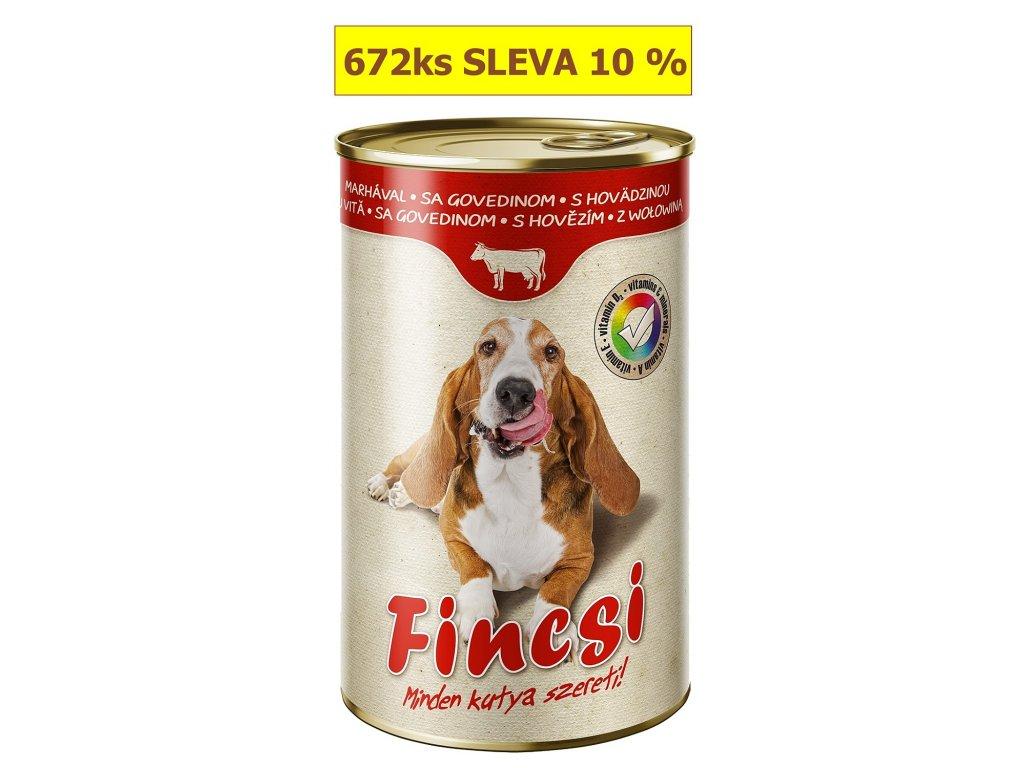 Fincsi Dog with Beef 1240g-(Balení 12 kusů)