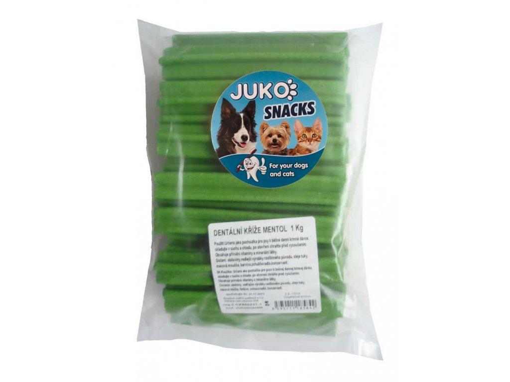 Dentální kříž mentol JUKO SNACKS 1 kg (cca 44 ks)