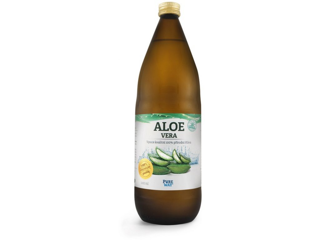 Akce Aloe vera 99,7% šťáva premium quality 1000ml Pure Way