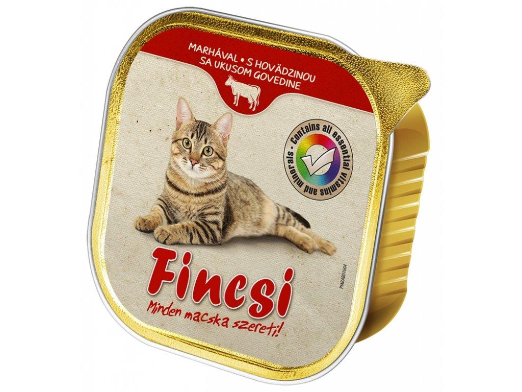 Akce Fincsi Cat vanička Beef 100g