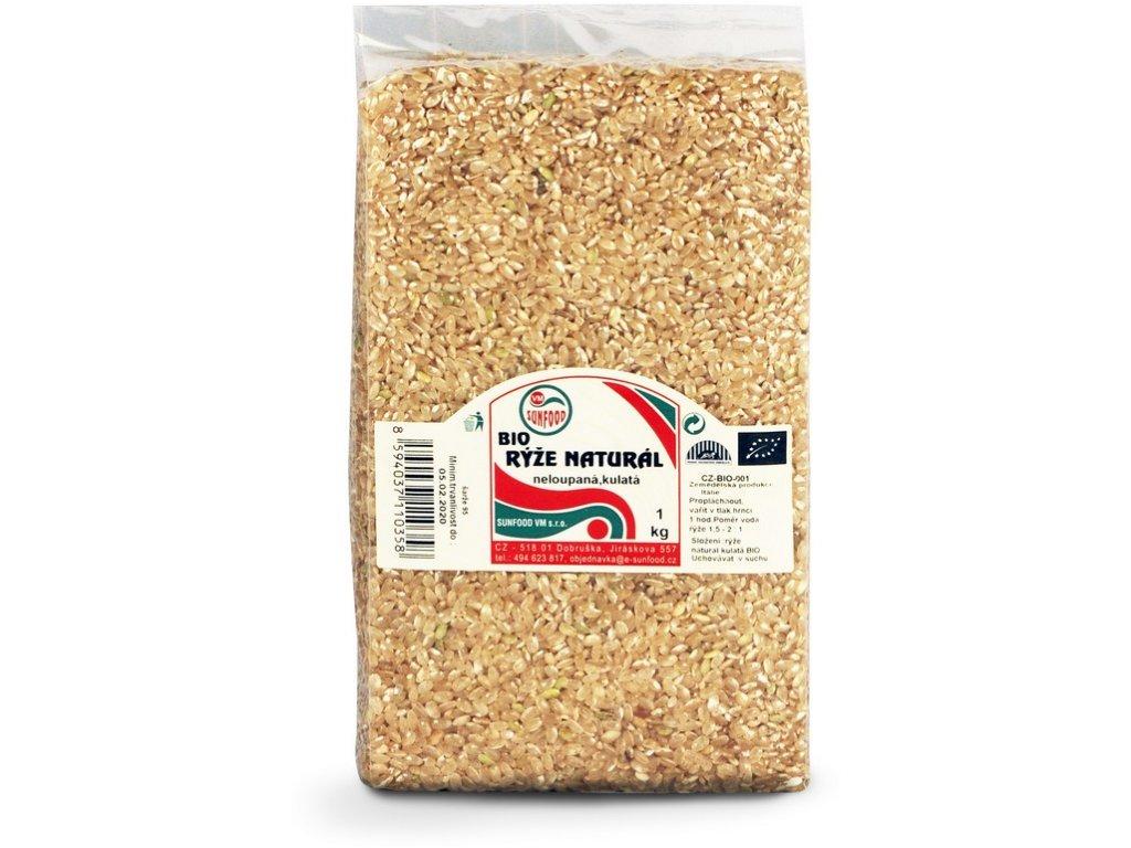 AKCE Bio Rýže natural krátká 1 kg Sunfood