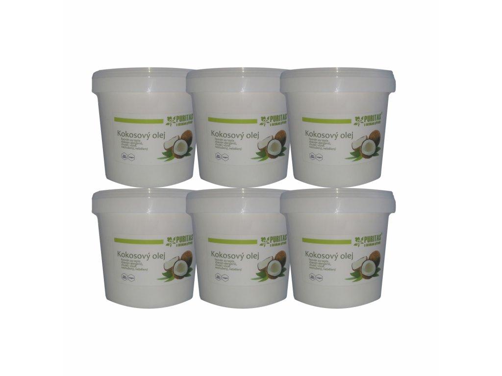 Kokosový olej Puritas® sada 6x1000ml kbelík s dopravou zdarma