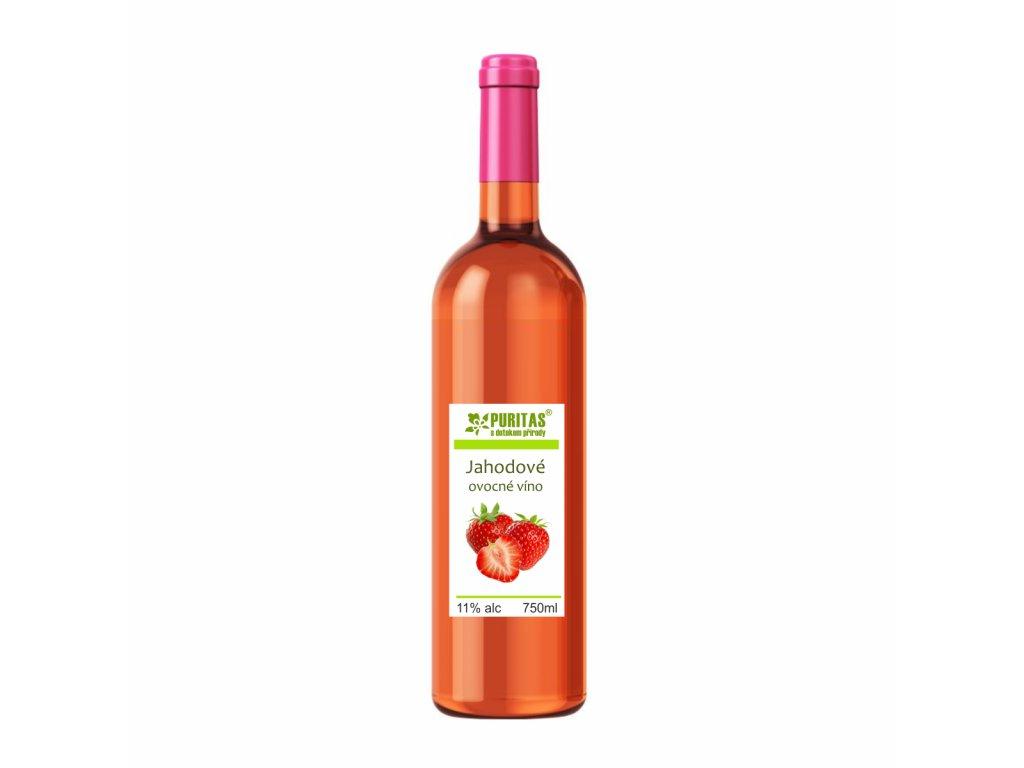 jahodové víno 750ml