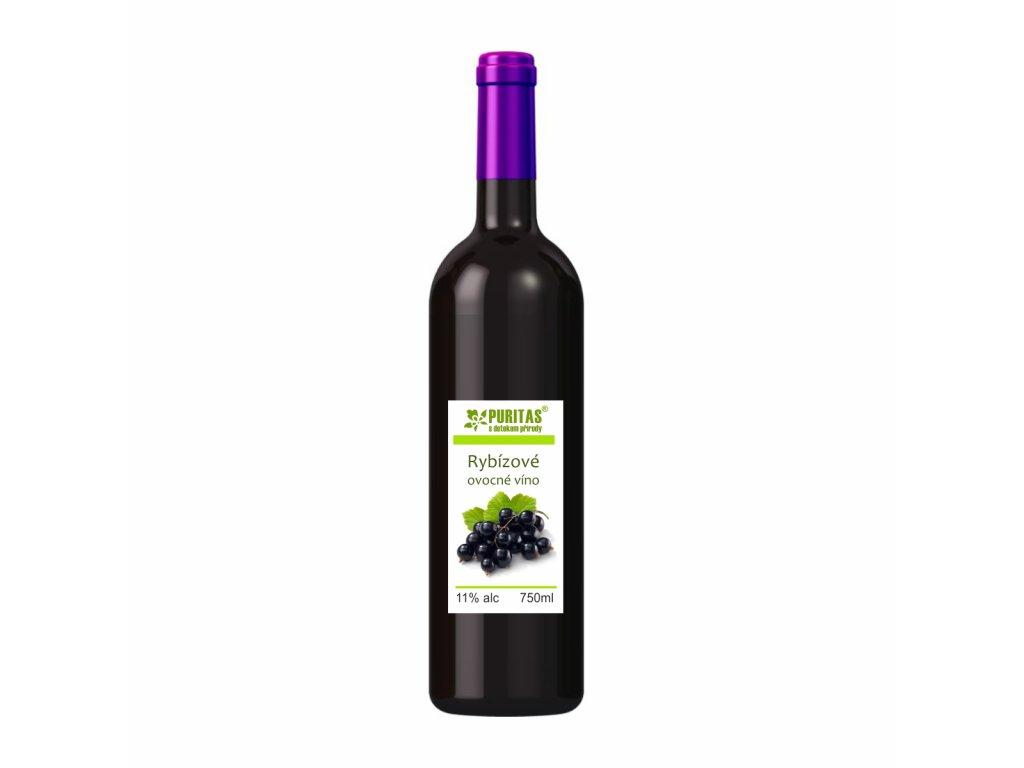 rybízové víno750ml