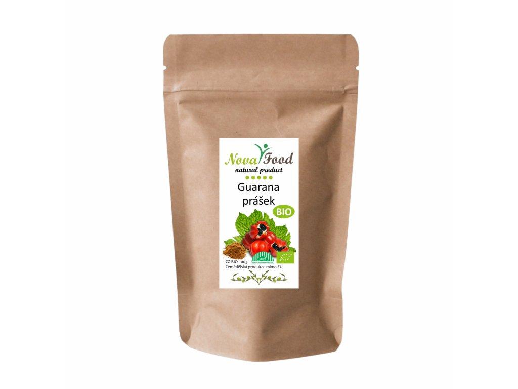 Bio guarana prášek 100g Novafood Doy-pack ZIP