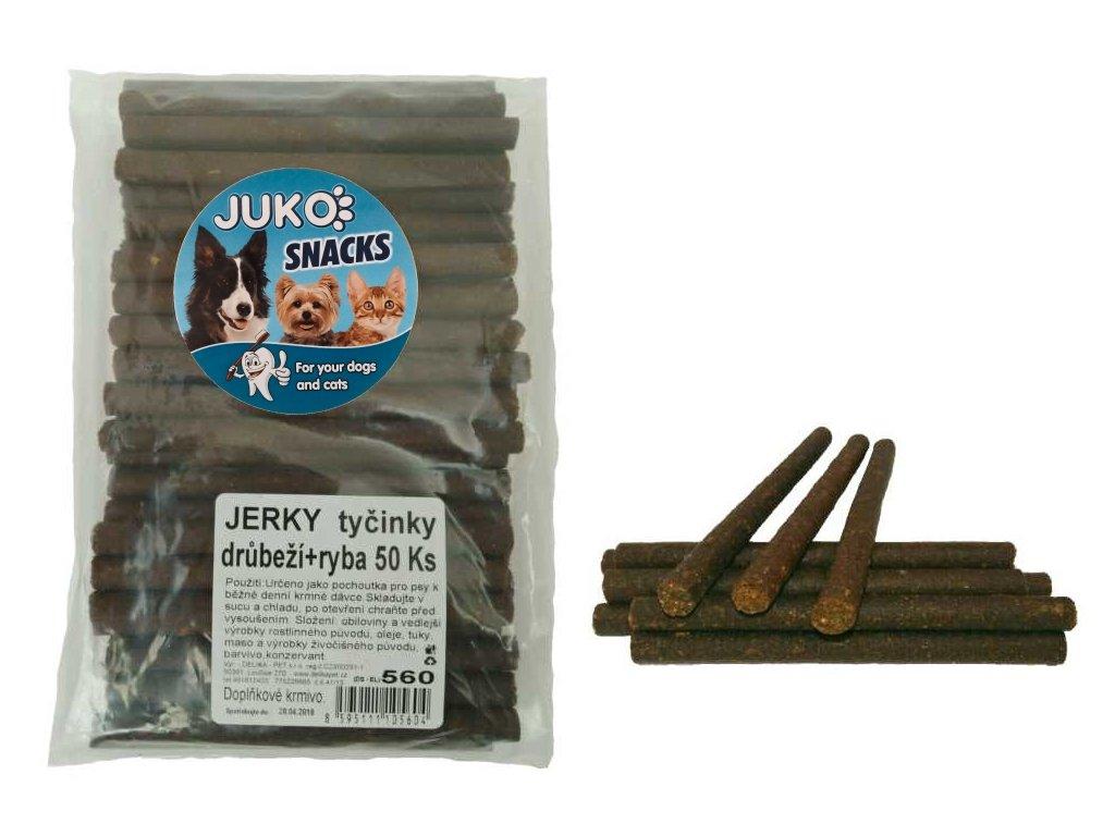 AKCE Jerky tyčinky drůbeží+ryba 50ks SMARTY-13121