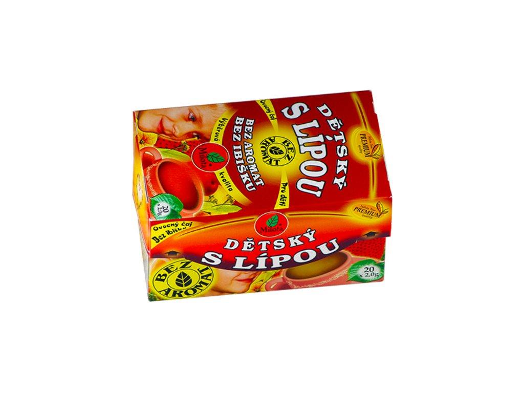 Dětský ovocný s lípou 40g(20x2g) bez aromat, bez ibišku Milota teas Premium