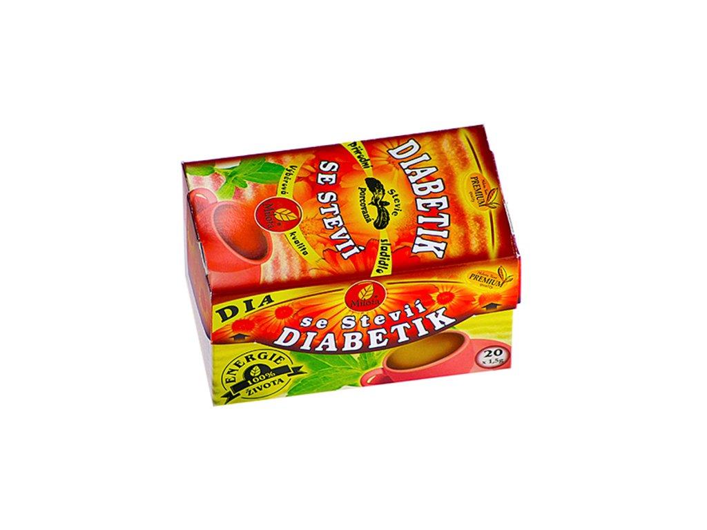 Diabetik se stevií 30g(20x1,5g) Milota teas Premium