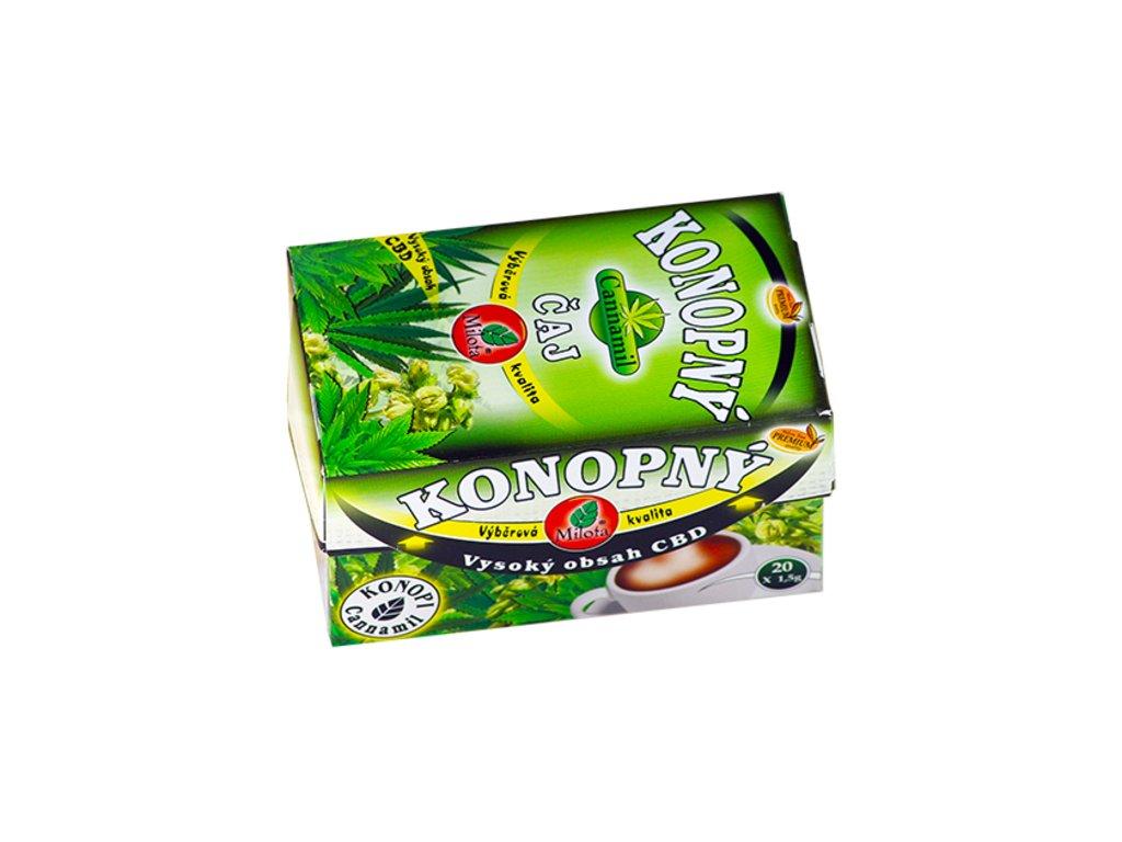 Cannamil Konopný čaj 30g(20x1,5g) Cannabis sativa flos c herba plv.