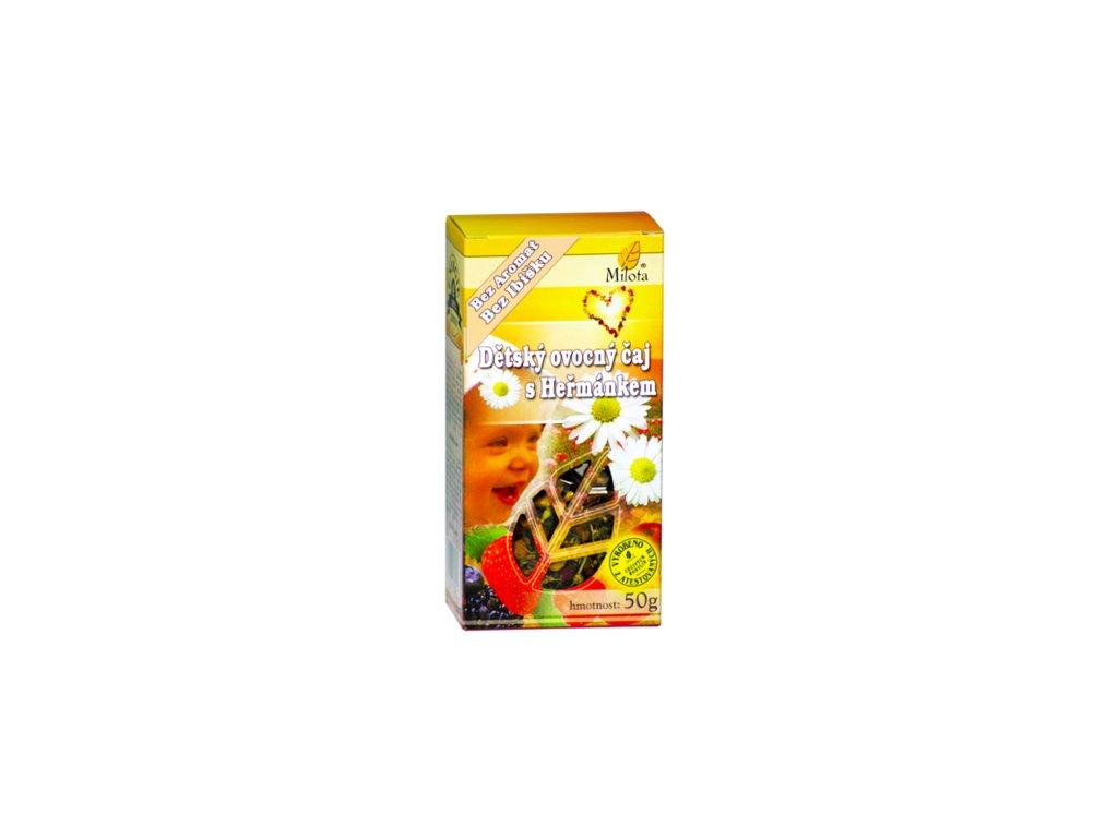 Dětský s heřmánkem (bez ibišku) 50g 100% přírodní ovocný čaj neobsahuje aromata