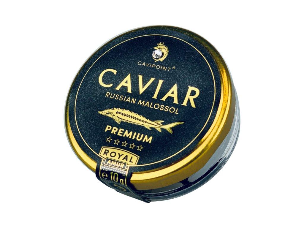 AMUR ROYAL - PREMIUM sturgeon caviar, 10g jar