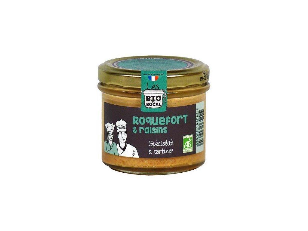 Ducs de Gascogne BIO delikatesa se sýrem Roquefort a rozinkami, 90g