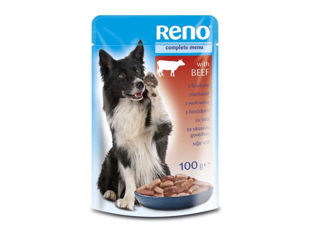 Akce RENO kapsa DOG HOVĚZÍ 100g