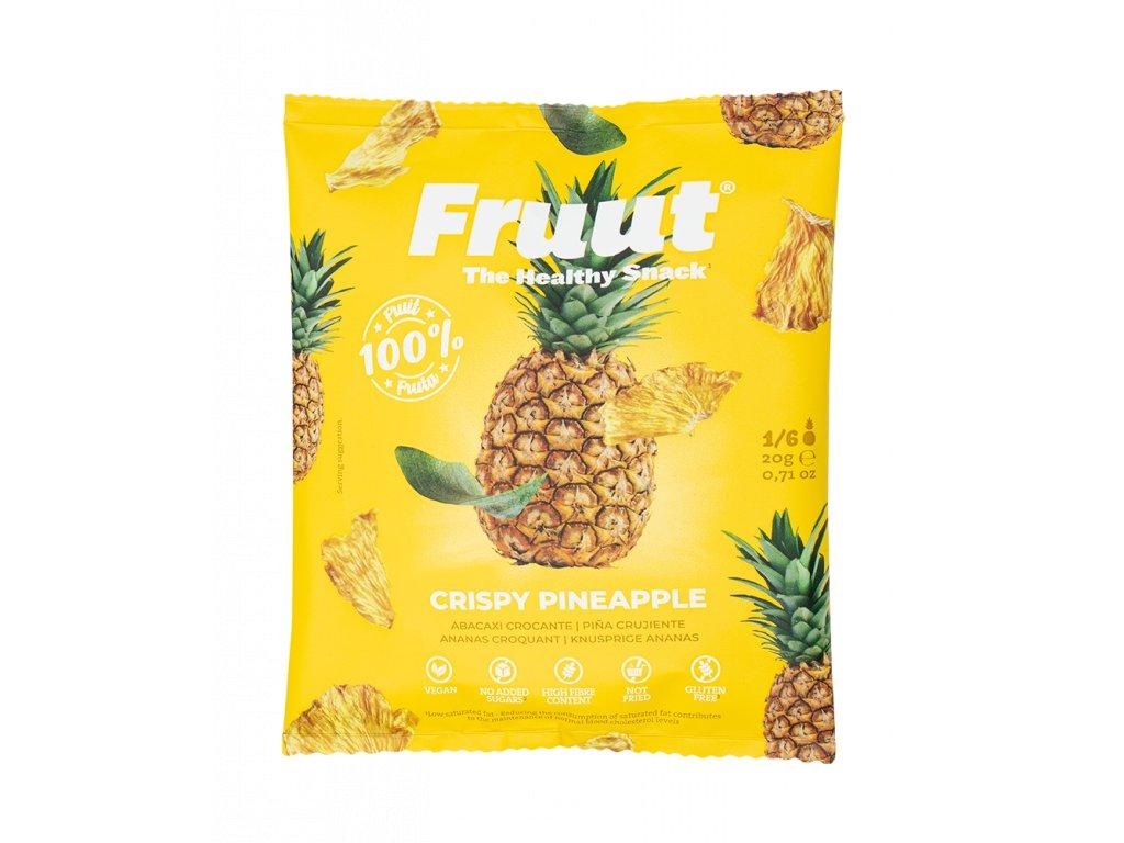 Fruut Sušené ananasové křupavé plátky 20g