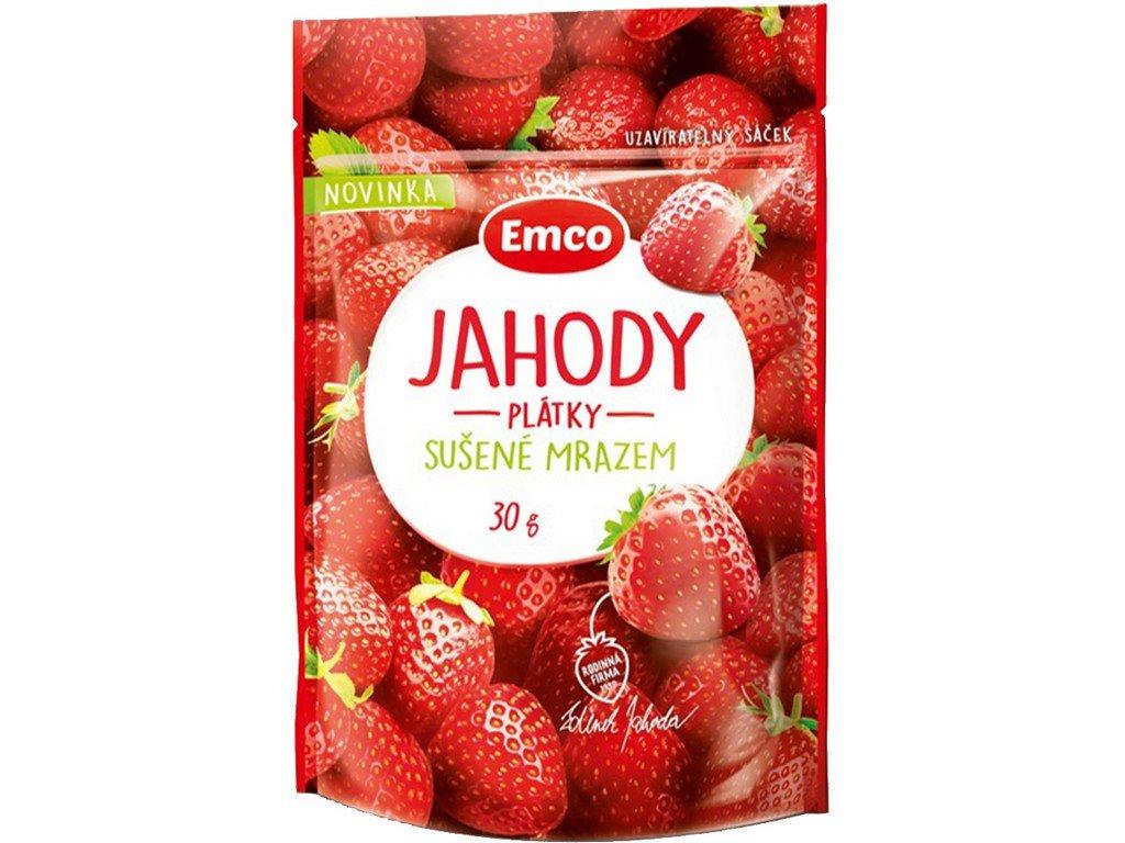 Mrazem sušené jahody 30g Emco