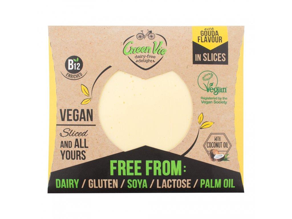AKCE Veganská alternativa sýru gouda plátky 180g GREENVIE