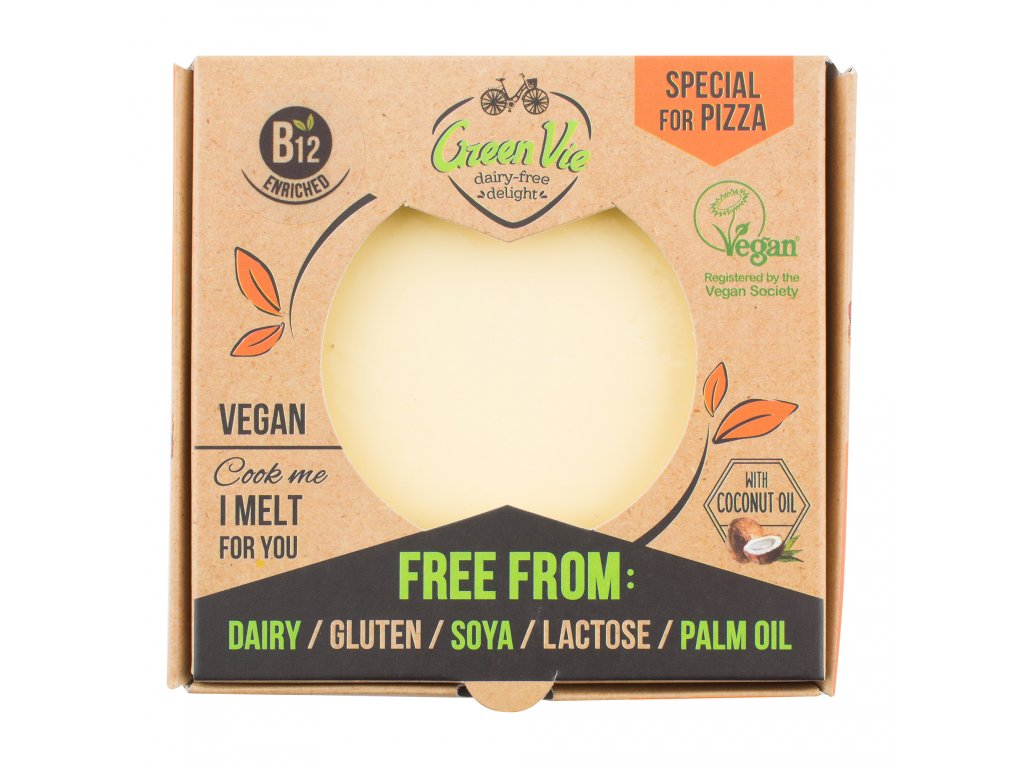 AKCE Veganská alternativa sýru pizza blok 250g GREENVIE